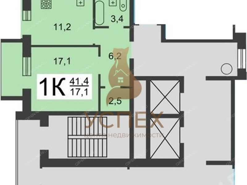 однокомнатная квартира на проспекте Ильича дом 40
