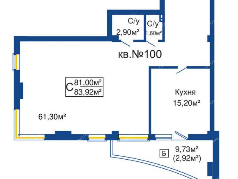 двухкомнатная квартира в новостройке на улице Ленина город Бор