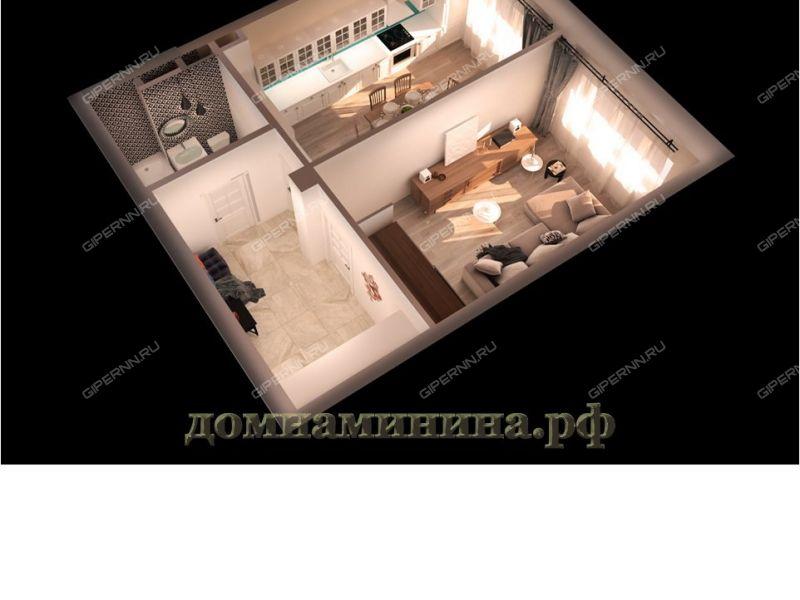 однокомнатная квартира в новостройке на площади Минина и Пожарского