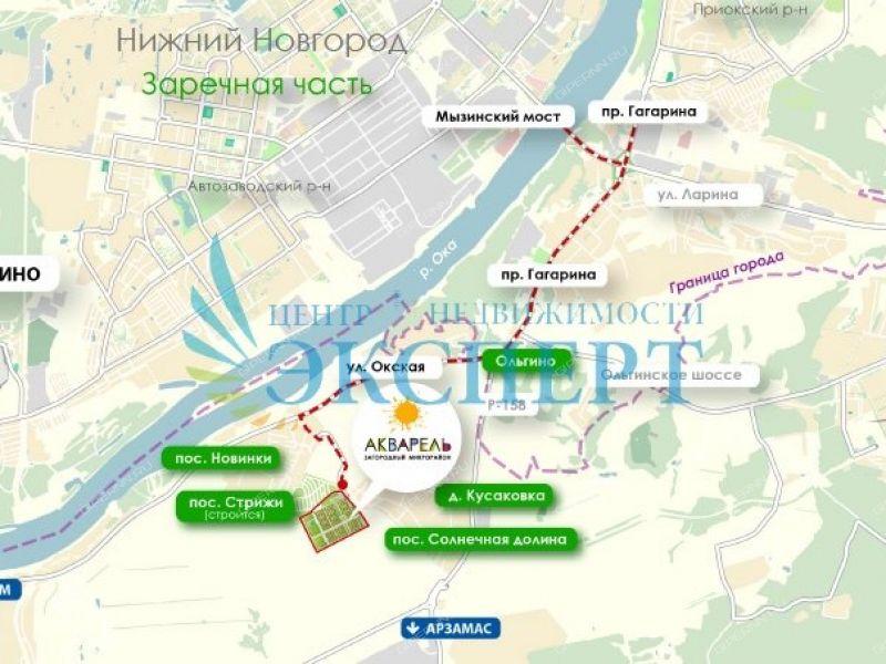квартира-студия на  дом 1 город Нижний Новгород
